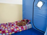 child sleeping in Safespace 2